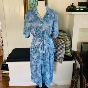 1960's Ina Carol Blue House Dress